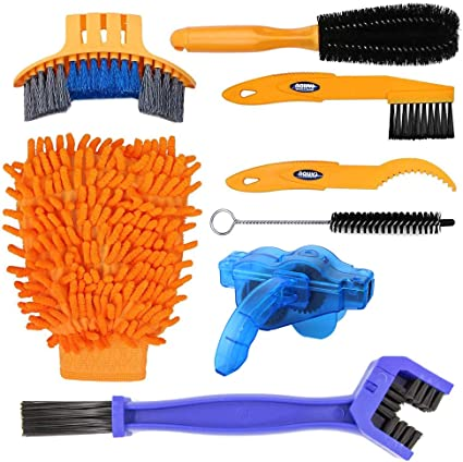 Cycling Bike  Chain Wheel Wash Cleaner Tool Cleaning Brushes Scrubber Set EC