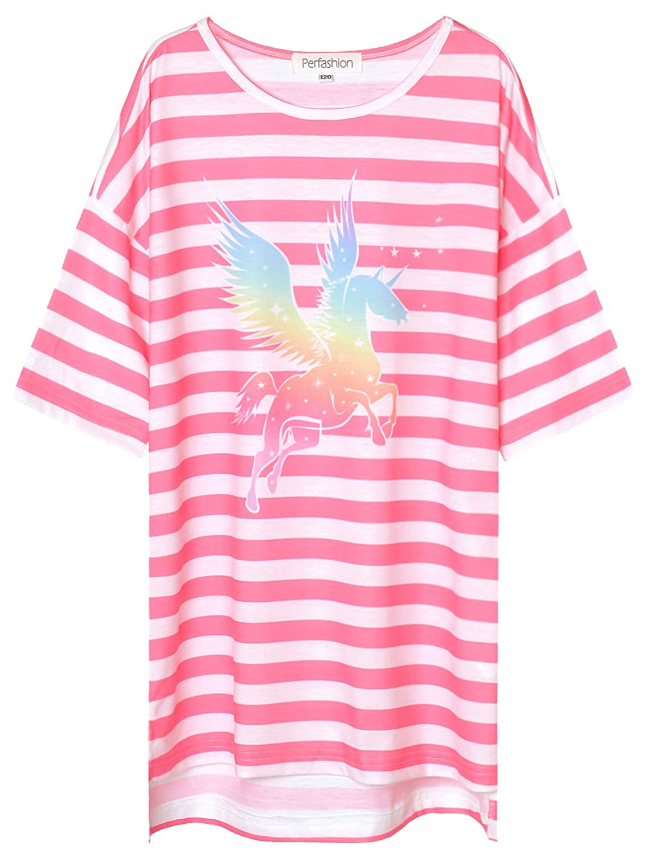Abalacoco Girls Kids Princess Lace Nightgown Long Sleeve Cotton Sleepwear Dress Pretty V-Neck Loose Homewear