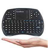 [2017 Newest] Leelbox 2.4Ghz Mini Wireless Keyboard Air Touchpad Mouse For Android TV Box PC PAD Smart Tv---Black