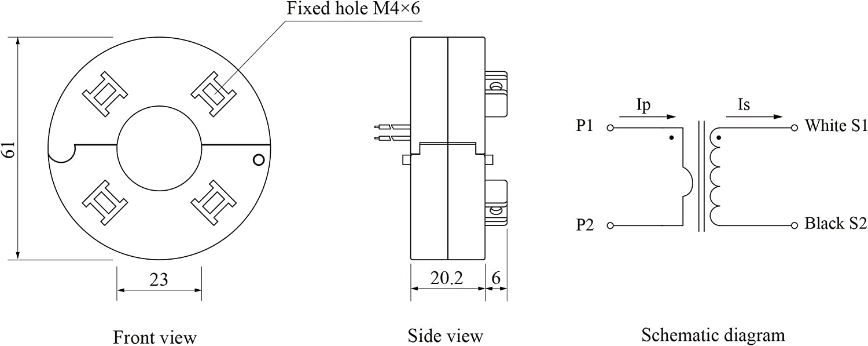 YHDC Split core Current Transformer SCT023R 200A:50mA 0.5/%