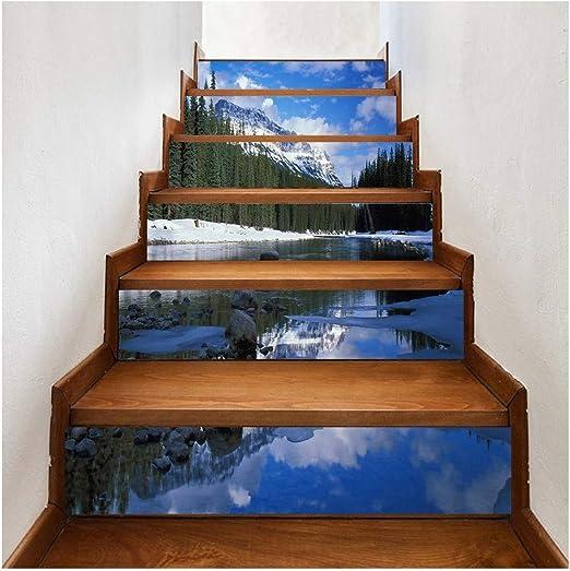 SERFGTFH Escalera Terraza Pegatina Pegatinas De Pared DIY Adhesivo Removible Adhesivo Escalera Patrones De Azulejos De Cerámica para La Decoración del Hogar: Amazon.es: Hogar