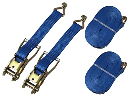5000KG Tie Down Lashing Claw J Hook 10 X 50MM  X 8 METRE  5 TONRatchet Straps