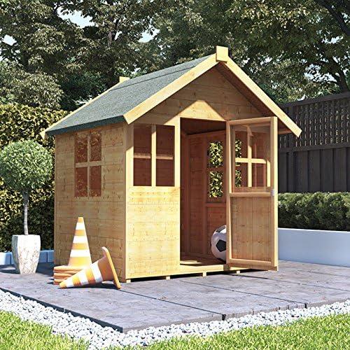 BillyOh - Casa de juegos de madera para niños (4 x 4, 122 x 122 cm ...