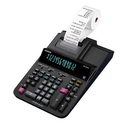 Casio DR-420RE - Calculadora de sobremesa, 12 dígitos, 8.4 x 20.5 x 34.1 cm, negro