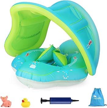 Luchild Flotador de Natación para Bebés, Anillo de Natación Bebé Juguetes de Piscina Inflable de Piscina Nadar Anillo para Niños Bebés, con Bomba ...