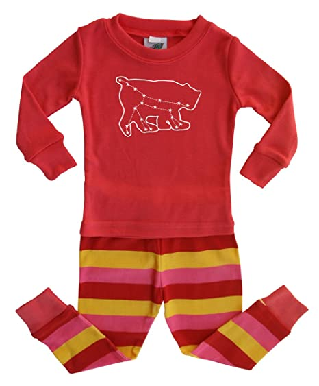 7f1ad0900 Amazon.com  Pink and Yellow Striped Baby and Toddler Graphic Pajama ...