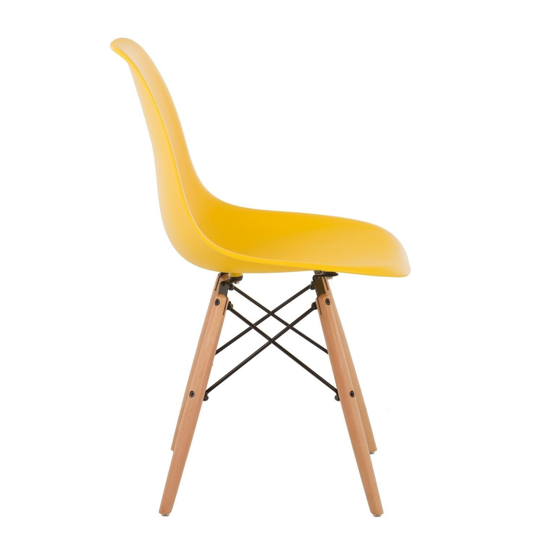 Sensational Bravich Blue Como Eiffel Dining Chair Plastic Wooden Leg Andrewgaddart Wooden Chair Designs For Living Room Andrewgaddartcom