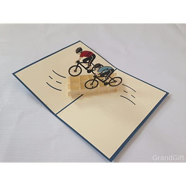 Handmade Motorbike themed birthday// any occasion pop up card