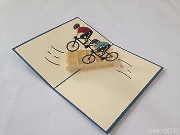 Cycling team bike sport d pop up greeting card handmade happy