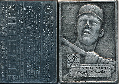 1952 Mickey Mantle Rookie Pewter Replica made by Topps in 1995 ()