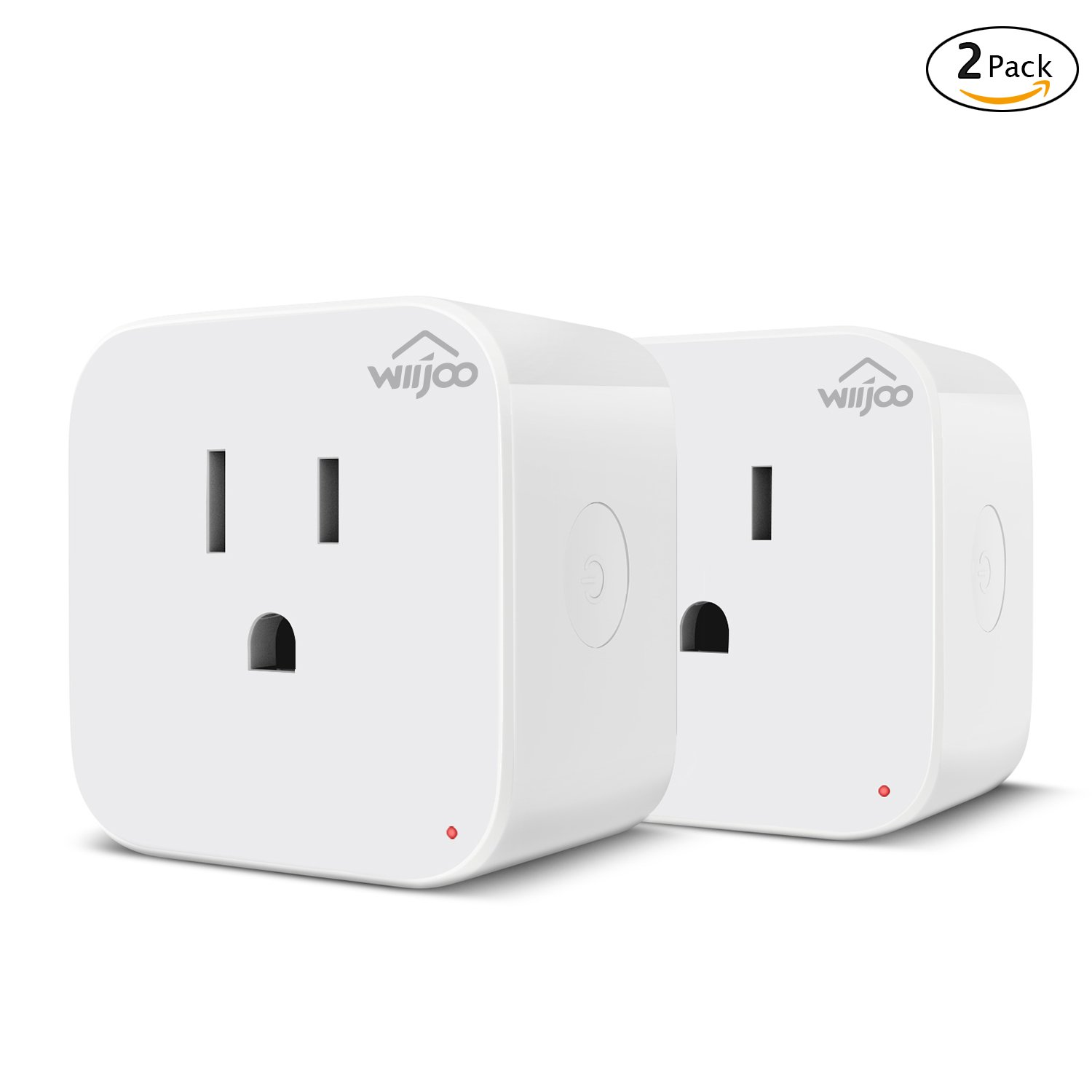 Smart Plug Outlet Compatible with Amazon Alexa Google Home, Mini Wifi Outlet Smart Socket with Energy Monitoring and Timer Function,No Hub Required, ETL Listed, White