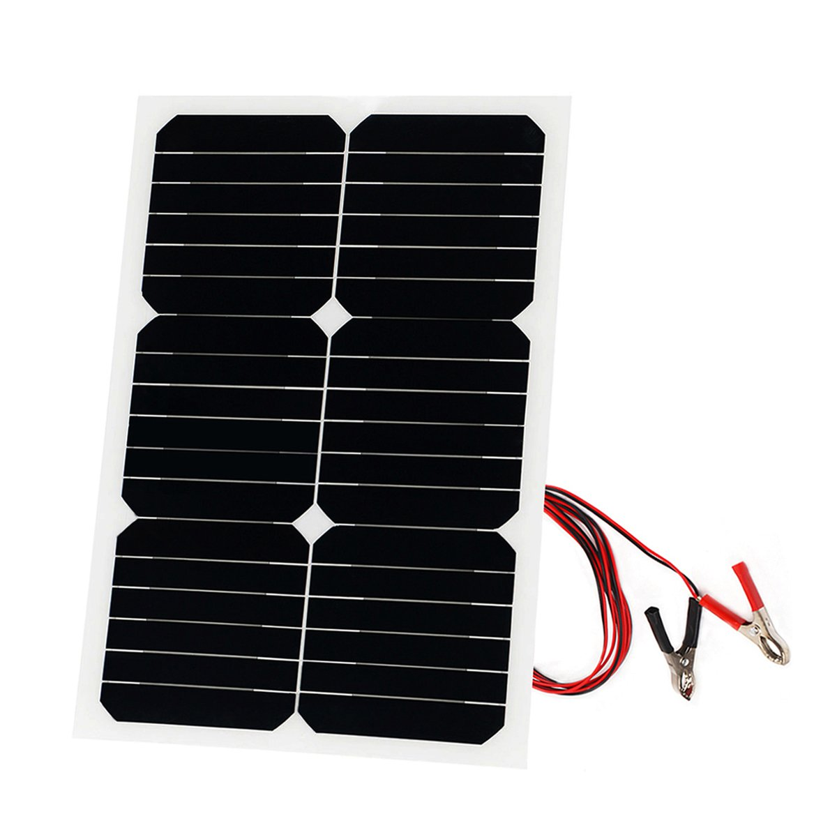 20 Watt Solar Panel Sunpower 18V 12V Portable Solar Panel Charger Bendable Thin Lightweight Solar Panel Battery Charger for RV, Car, Motorcycle, Boat Solar Module