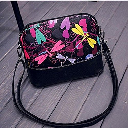 Shoulder Bag PU Flower Leather Women Shell Fashion Phone Pouch BLxi xq6wpTXRgT