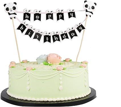 Terrific Amazon Com Lxzs Bh Lveud Panda And Rabbit Decoration Mini Happy Funny Birthday Cards Online Alyptdamsfinfo
