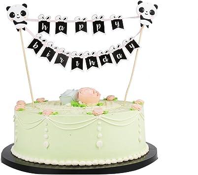 Enjoyable Lxzs Bh Lveud Panda And Rabbit Decoration Mini Happy Birthday Cake Birthday Cards Printable Nowaargucafe Filternl