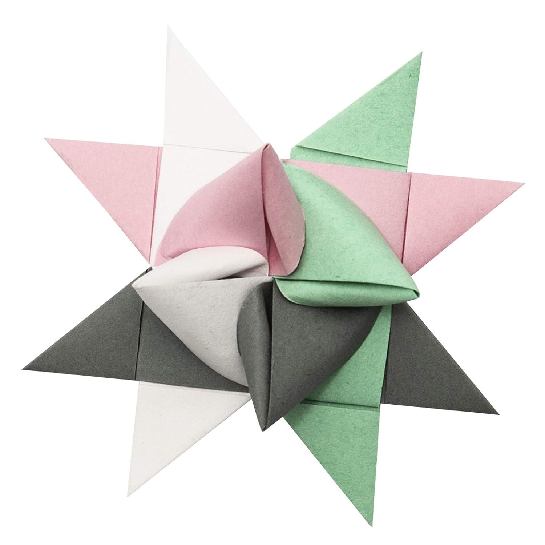 Mint Ros/é Tiras de papel para estrellas de Fr/öbelsterne Colores surtidos Papel de dibujo 1,5 x 45 cm, 80 tiras, 130 g//m2 Blanco Gris Antiguo