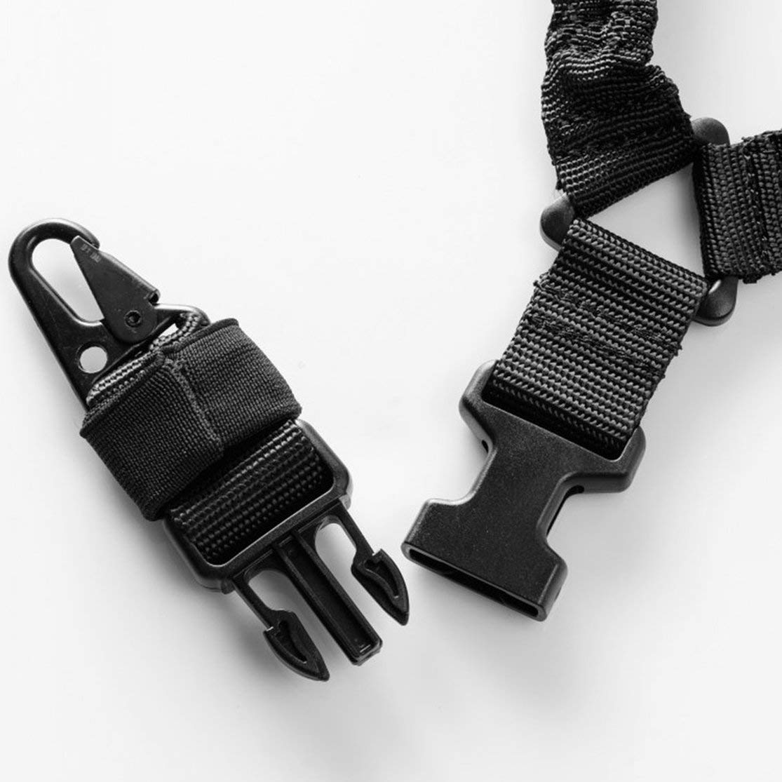 LouiseEvel215 Imbracatura Tattica di Campeggio Esterna Cinghia Tattica Multifunzionale Corda di Sicurezza a Punto Singolo Task Sling Corda salvavita
