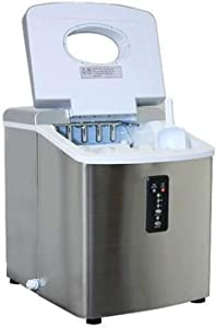 CZZ11 Ice Maker Small Commercial Household 18kg Stainless Steel Ice Maker with Led Display Screen Get Ice in 9 Minutes Produces 15kg Ice in 24 Hours