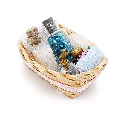 Odoria 1/12 Miniatura Cajas Organizadoras para Baño Perfume Decorativo para Casa de Muñecas