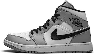 Amazon Com Jordan Hombres Air 1 Mid Light Smoke Gris 554724 092 Tamano Shoes