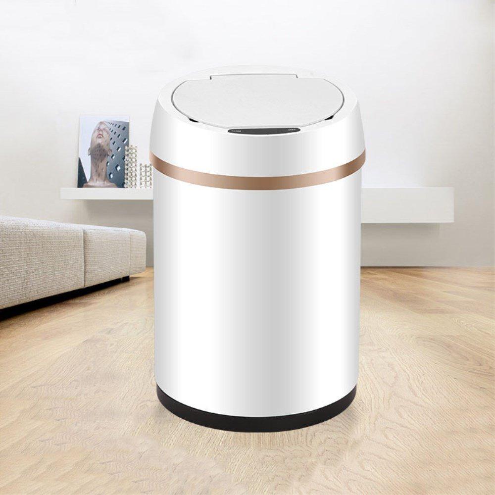 MQ 自動センサー式ゴミ箱 赤外線自動開閉 フタ付き 静音タイプ ステンレス製 6L 9L 12L (6L) B0798K2P91 6L 6L