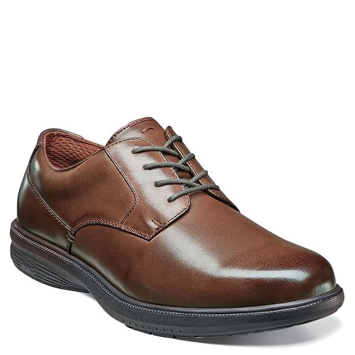 4ab8d7090 Amazon.com | Nunn Bush Men's Marvin Street Plain Toe Oxford with KORE Slip  Resistant Walking Comfort Technology | Oxfords