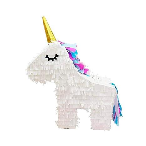 Piñata Unicornio para Rellenar - para tu Fiesta de Unicornio, como Juego de cumpleaños en el cumpleaños de un niño, Juego de Boda o como decoración en ...