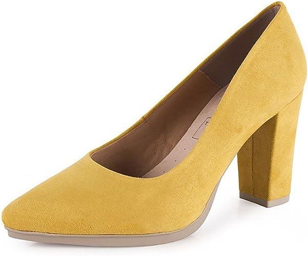 MADE IN SPAIN Zapatos de Salón para Mujer de Piel by CHAMBY Mod. 4770