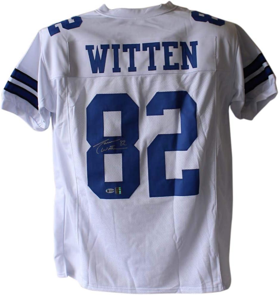 Jason Witten Autographed/Signed Dallas White XL Jersey BAS