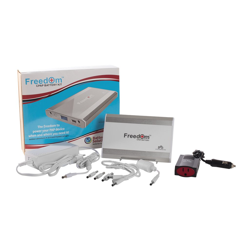 Freedom CPAP Battery Kit with 150W Sine Wave Power Inverter - Number 1 Most Advanced, Longest Lasting CPAP Battery