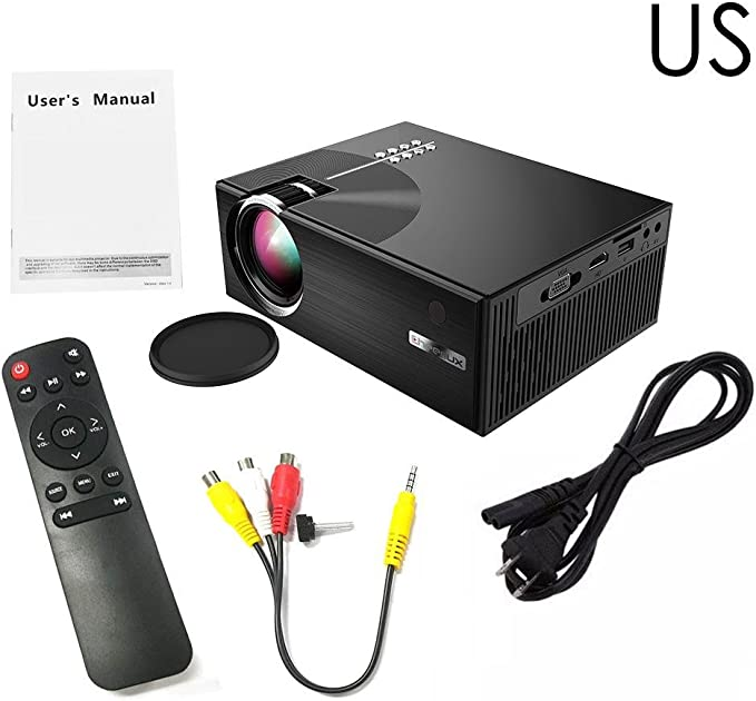 chifans Mini proyector 1080P 3D HD Proyector LED Negro C7 ...
