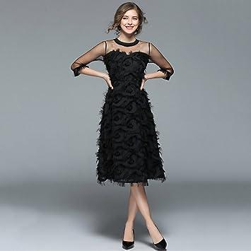 Vestidos de mujer Borla Hilo de malla Falda mullida Agradable Lady Vestido de princesa delgada Vestido