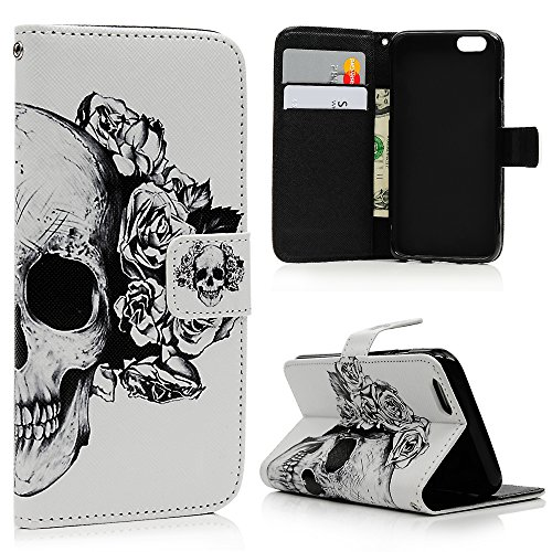 [Iphone 6S, Iphone 6 Wallet Case - Mavis's Diary Halloween Series Premium Leather with Card Holders Magnetic Clip Flip Cover Stand Case for Iphone 6S (4.7