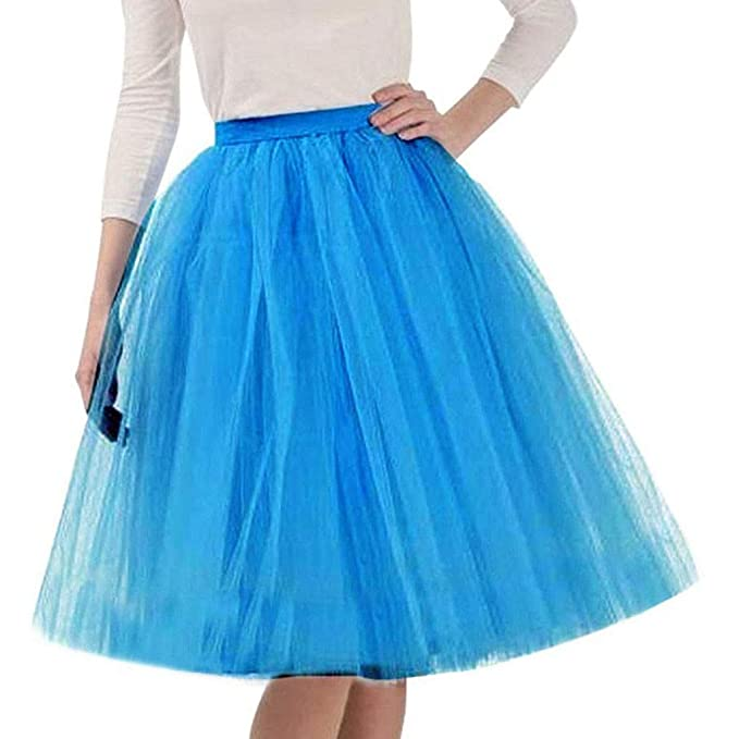 XNBZW Falda de ballet corto vintage para mujer azul azul celeste ...