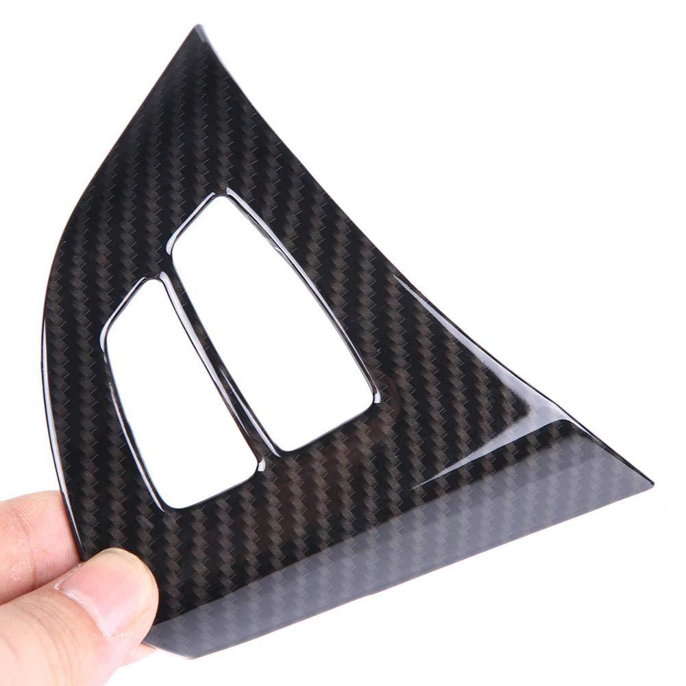 fibre de carbone bouton de volant d/écoration garniture de moulures int/érieures de voiture pour X5 E70 2008-2013 2pcs garniture de bouton de volant