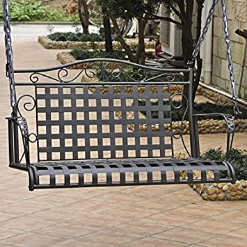 vintage metal porch swing for sale swings with stands international caravan iron ft black stand
