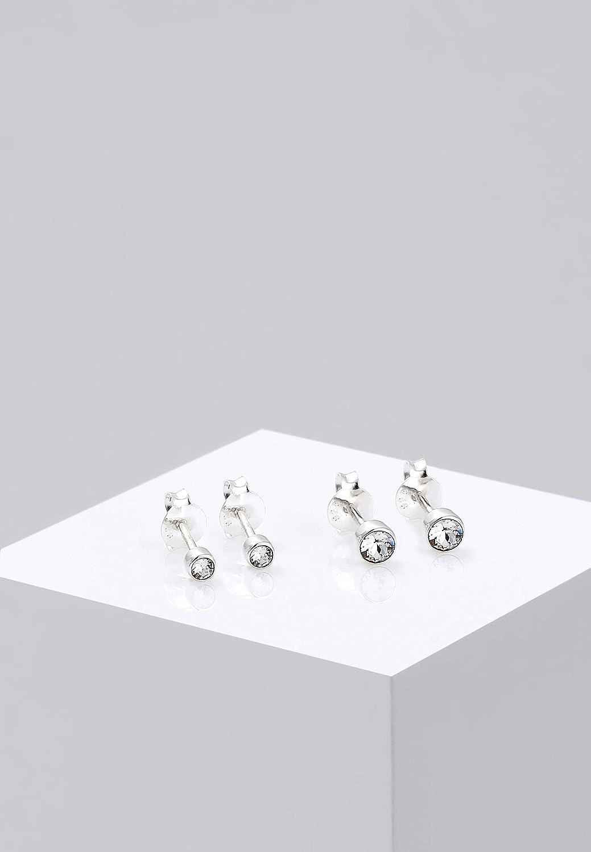 Elli Boucles d/´Oreilles pour Dames en 925 Argent Cristal de Swarovski