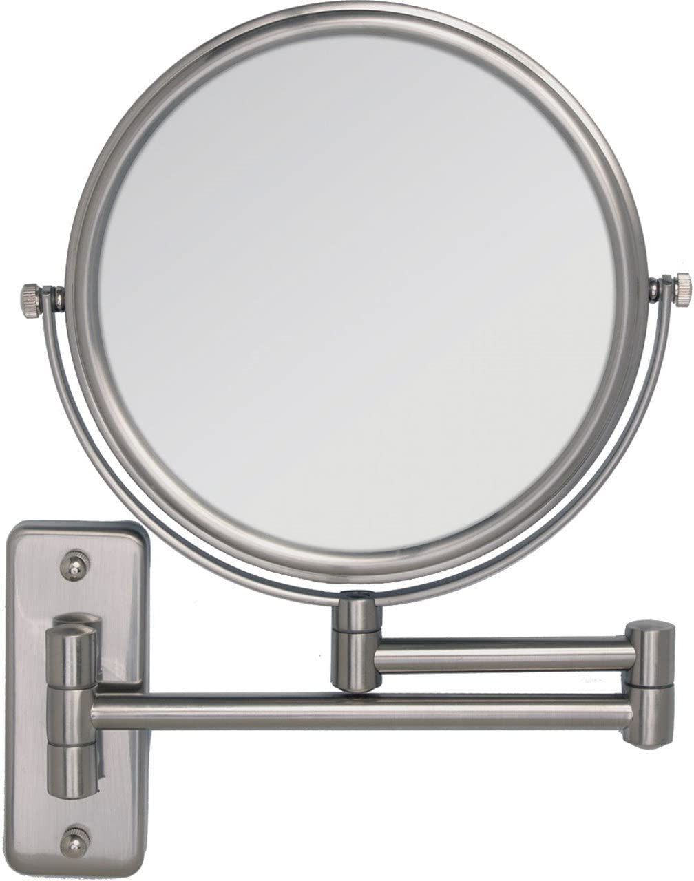 Dual-Sided Wall Mount Make-Up Mirror 5X-1X