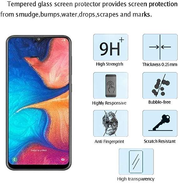 Kratzfest Conber Panzerglasfolie f/ür Samsung Galaxy A20E, 9H geh/ärtes Glas Blasenfrei H/ülle Freundllich Hochwertiger Panzerglas Schutzfolie f/ür Samsung Galaxy A20E 2 St/ück