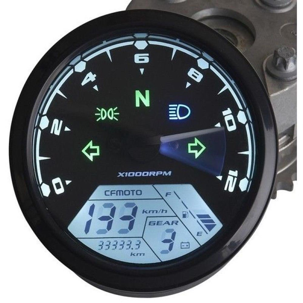 Iztoss Mph Kmh 124mph 199kmh 12000 Rpm Lcd Digital Frequency Counter Tachometer Schematic Speedometer Odometer For 4 Stroke 1 2 Cylinders Motorcycle Automotive
