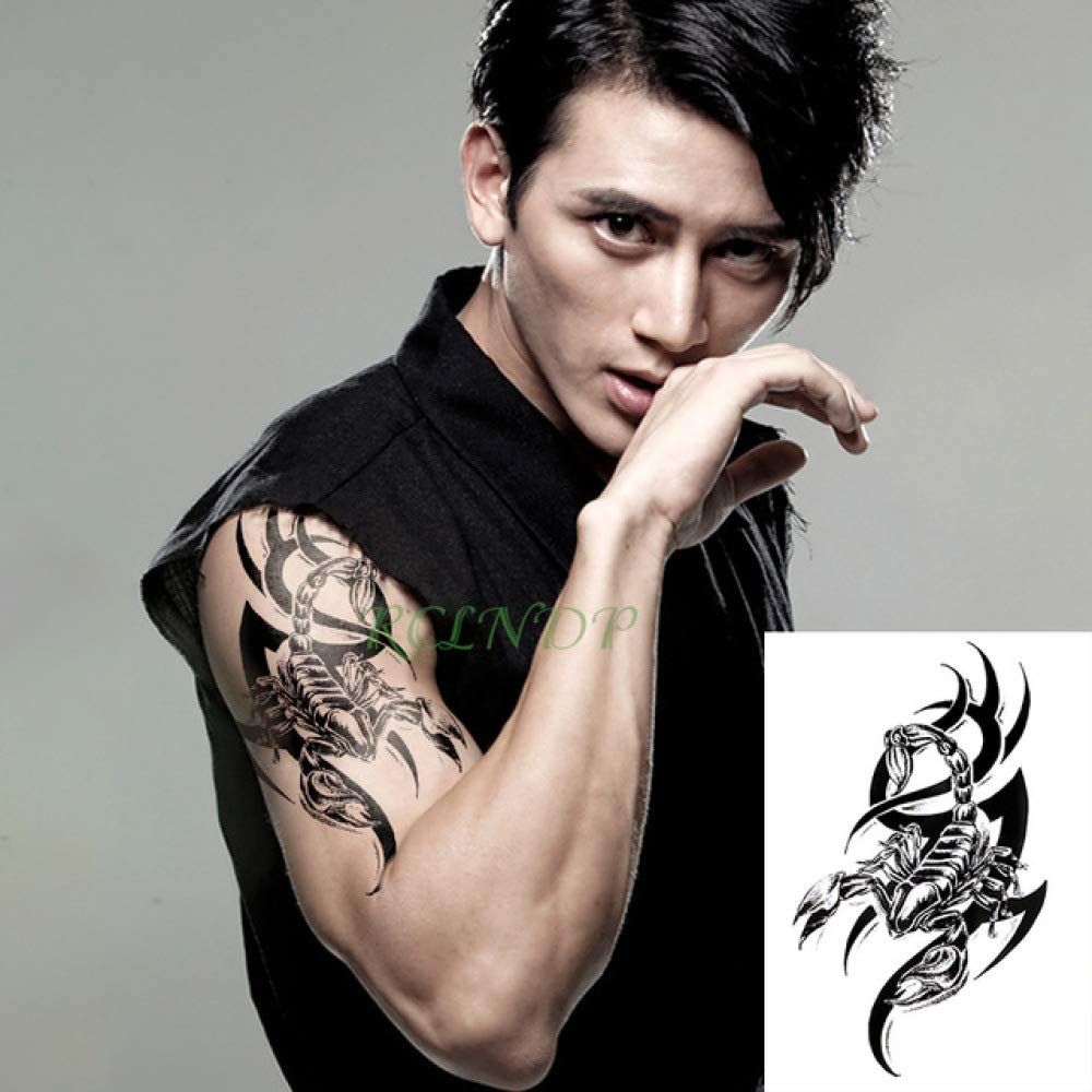 tzxdbh 2Pcs-Impermeable Etiqueta engomada del Tatuaje Temporal del ...