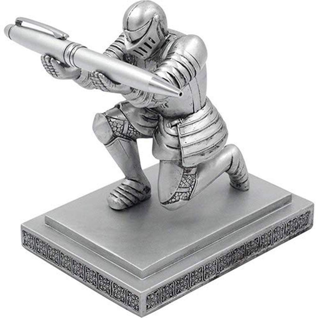 DZW Kreative Bronze-Statue Pen Holder Decoration, Executive Ritter Metal Pen Holder personalisierte Bürobedarf B07M611R5J     | Quality First