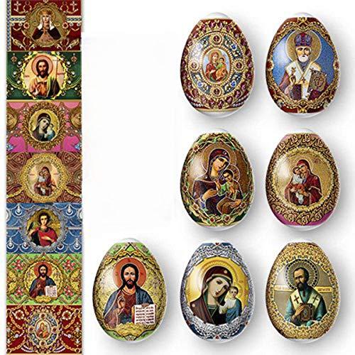Ukrainian Heat Shrink Wrap Sleeve Decoration Easter Egg Wrappers Pysanka Arounds Set (Faberge)