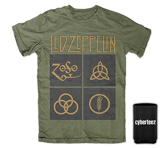Amazon Led Zeppelin Iv Black Box Symbols Zoso Mens T Shirt