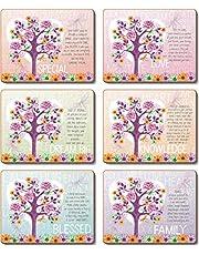 Cinnamon Tree of Love Drink Coasters