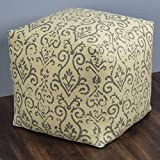 Rizzy Home POFP1038494T30002 Fretwork Pattern Square Pouf,Yellow
