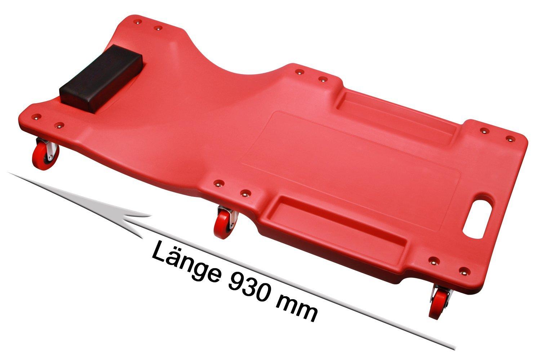 KFZ Montagerollbrett, Rollbrett, Montageliege mit 6 Laufrollen Ø 60 mm bis 120 Kg Otger Lensker