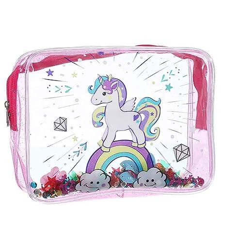 WDOIT - Neceser de Maquillaje portátil, diseño de Unicornio ...