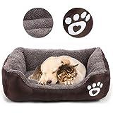 Vandot Cómodo Casa para Mascotas, Cama para Perros Perrera Gato del Perro de Perrito Sofa House Bed, Almohada…