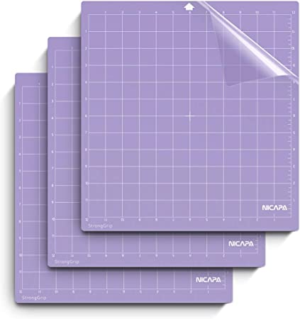 Strong Grip Cutting Mat for Silhouette Cameo 4//3//2//1 3 Packs Cut Mats Replacement Accessories for Silhouette Cameo 12 x 12 inch, Purple
